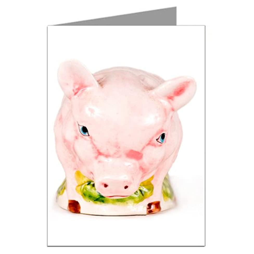 Vintage Kitsch Pig Notecard Set