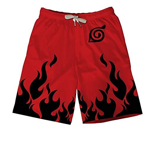 Spricen Herren Badeshorts Sommer Badehose 3D Strand Shorts Hawaii Freizeit Shorts Naruto D M