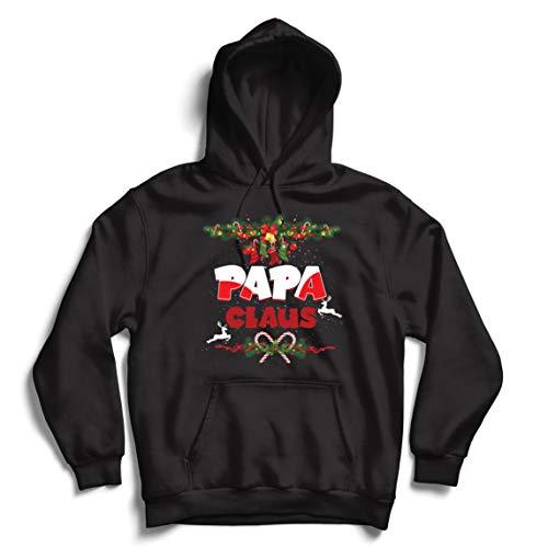 lepni.me Kapuzenpullover Papa Claus Lustiger Weihnachtsmann Weihnachten Passendes Kostüm (XXX-Large Schwarz Mehrfarben)