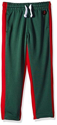 Southpole Boys' Little Athletic Track Pants Open Bottom, Green, Medium