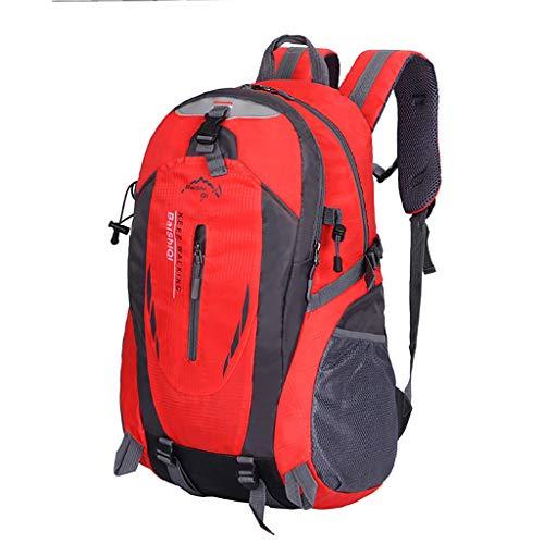 Rucksack Damen Herren, VECOLE Backpack 2019 Unisex wasserdichte Outdoor Sport Bergsteigen Reisetasche Student Schultasche(rot)