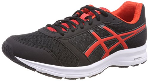 Asics Patriot 9, Zapatillas de Running para Hombre, Negro (Black/Fiery Red/White 9023), 45 EU