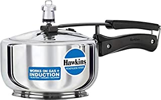Hawkins Stainless Steel Pressure Cooker Induction Bottom 2L Multi Cooker