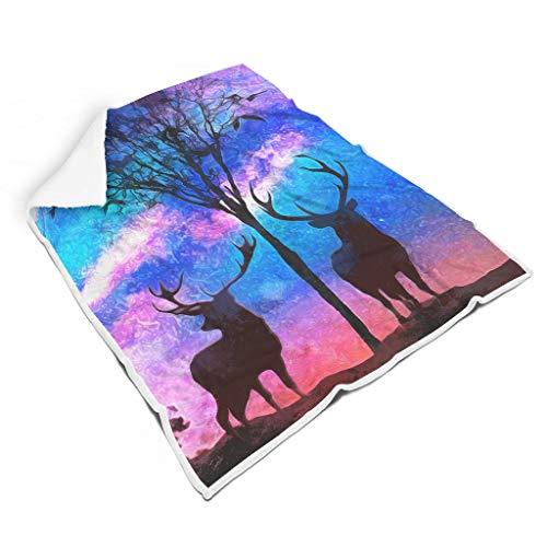 Rcerirt Animal Oil Painting Night Zacht kleurrijk warm dekbed voor bed Laat de mensen goed slapen voor baby of volwassenen, veelzijdige stijl