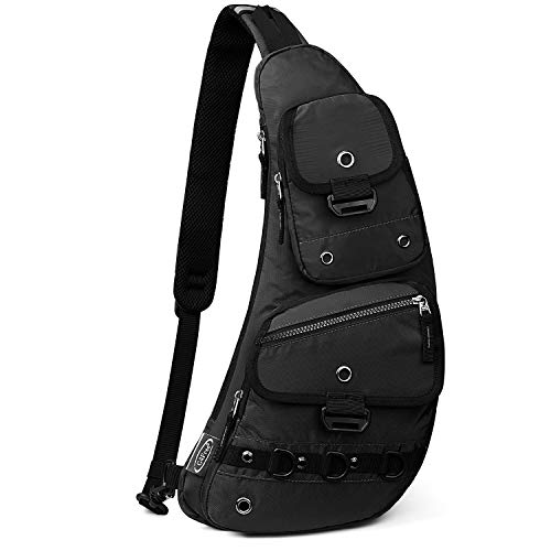 G4Free Sling Bag Molle Chest Shoulder Crossbody Backpack Walking Dog Pack Multipurpose Daypack for Outdoor Cycling Travel Hiking Unisex
