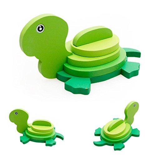 winwintom 3D Puzzles de Madera, Montessori Mini Juguete Divertido Educativo para Niños Regalo Colorido de Madera del Rompecabezas (Modelo_10)
