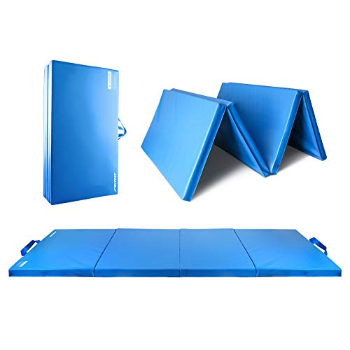 RitFit Upgraded Folding Exercise Mat, 2 Inch Thick Gymnastics Mat with Carrying...