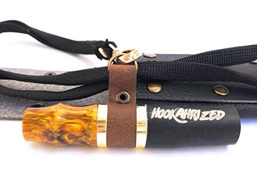 Hookahrized Shisha Hygiene Mundstück EL Clasico | Aufbewahrungstasche | Halsband (gelb/schwarz)