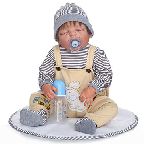Yeah-hhi 55Cm Muñecas Reborn Sorpresas Regalos Bebé Muñeca De Silicona Realista Muñeca De Simulación De Pegamento Completo para Recoger Juguetes De Regalos