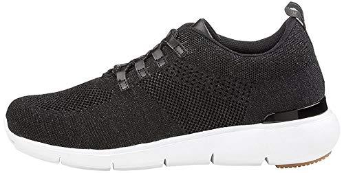 Fritzi aus Preussen Damen Insa Runner Lurex Slip On Sneaker, Schwarz (Black 1), 37 EU