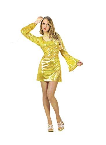 Atosa-7281 Disfraz Disco, Color Dorado, M-L (7281)
