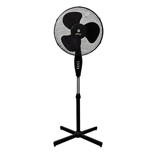 Ventilador del Suelo ELDOM WG50 Negro, Potencia 45W, Diametro de Rejilla 40cm