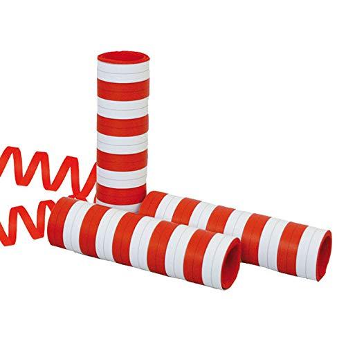 PARTY DISCOUNT® Luftschlange Rot-Weiß, 4m