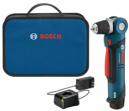Bosch PS11-102 12-Volt Lithium-Ion Max 3/8-Inch Right Angle Drill/Driver Kit with High Capacity Battery and Charger