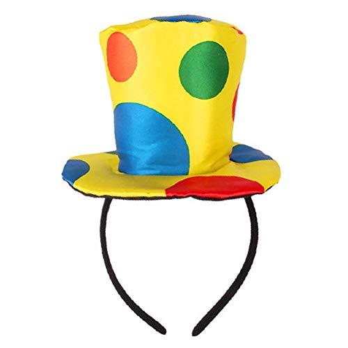 perfecti Clown Kopfschmuck Weihnachten Blossom Haarreif Für Damen, Bunten Punkten Clown Stirnband Lustiges Kostüm Für Karneval, Geburtstag, Halloween