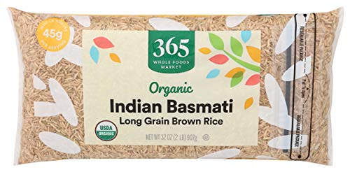 365 by Whole Foods Market, Organic Long Grain Rice, Brown Indian Basmati, 32 Ounce