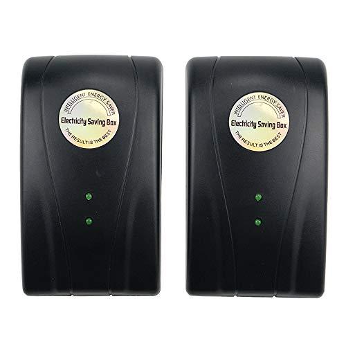 Tsinc Black Power Save Energy Saver Electricity Saving Box Household Office Market Device Electric Smart US Plug 90V-250V 30KW (2Pack)