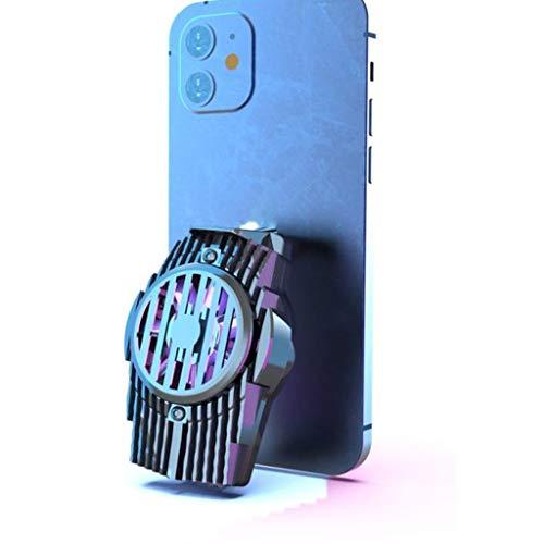 TWDYC Universal Mobile Phone USB Game Cooler System Sepanado de enfriamiento Mute Ventilador de Gamepad Soporte Soporte Radiador (Color : Black)