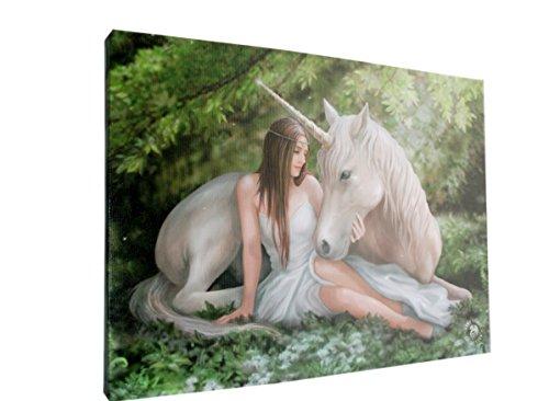 Photo sur toile Fantasy Licorne Anne Stokes plaque Cœur pur Taille 250 x 190 mm prêts à poser