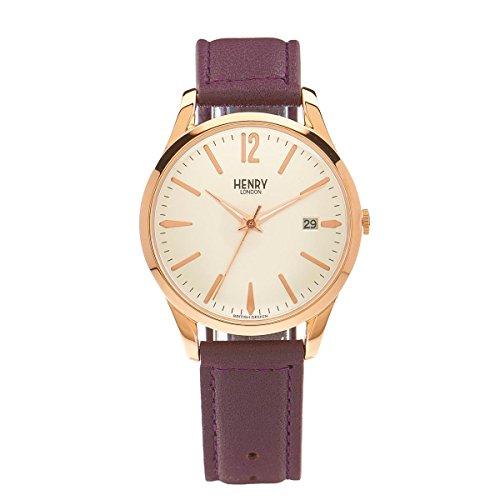Henry London Reloj Analógico para Unisex de Cuarzo con Correa en Cuero 5018479077855