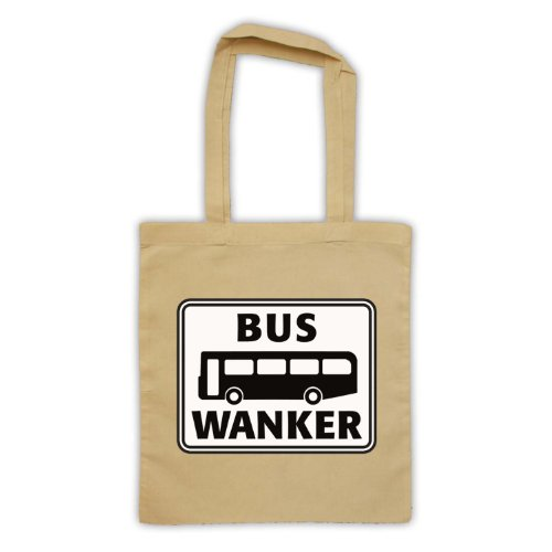 My Icon Art & Clothing Bus Wanker Comedy TV Taschentasche, Naturlich