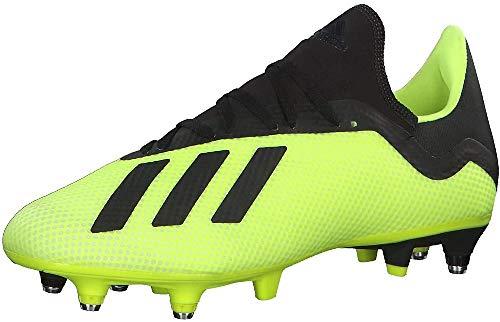 adidas X 18.3 SG, Zapatillas de Fútbol Hombre, Amarillo (Solar Yellow/Core Black/Footwear White 0), 39 1/3 EU