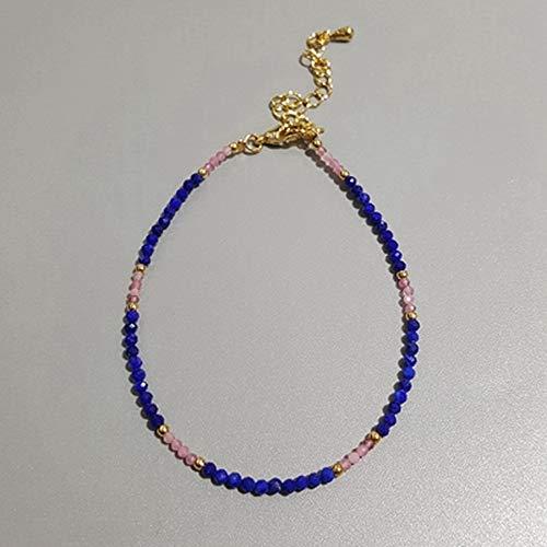 TEVERL Natuursteen Lapis lazuli labradorite poeder toermalijn turquoise armband 1