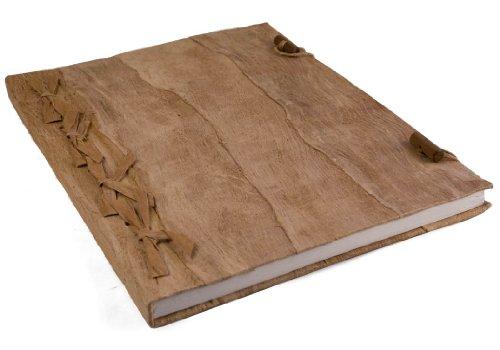 Life Arts Bark Rinde Notizbuch Handgefertigt (Natürlich, A4 Blanko)