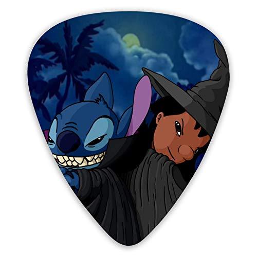 Lilo And Stitch - Juego de 12 púas para guitarra acústica, guitarra eléctrica, ukelele, bajo, púas, accesorios para guitarra
