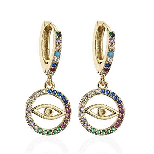 Gold Farbe baumeln Ohrringe für Frauen Mädchen einzigartiges Design böse Augentropfen Ohrring Party Schmuck weibliche Accessoires
