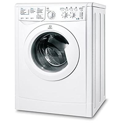 Indesit IWDC6125W 1200rpm Washer Dryer 6kg\/5kg Class A+ White by Indesit