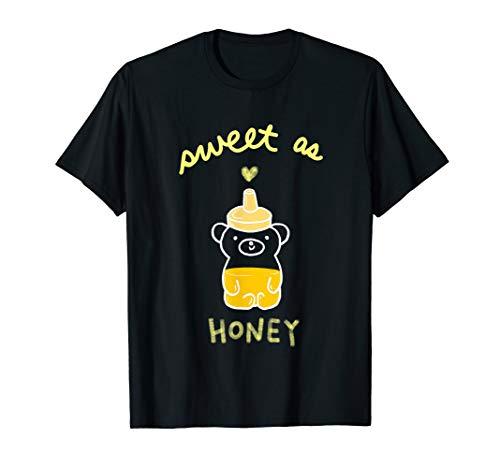 Cute Honey Bear 'Sweet as Honey' Honey Bottle Graphic T-Shirt