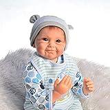 HOOMAI Puppe Reborn Babys Junge 55cm lebensecht silikon Girl doll günstig mädchen Magnetisches...