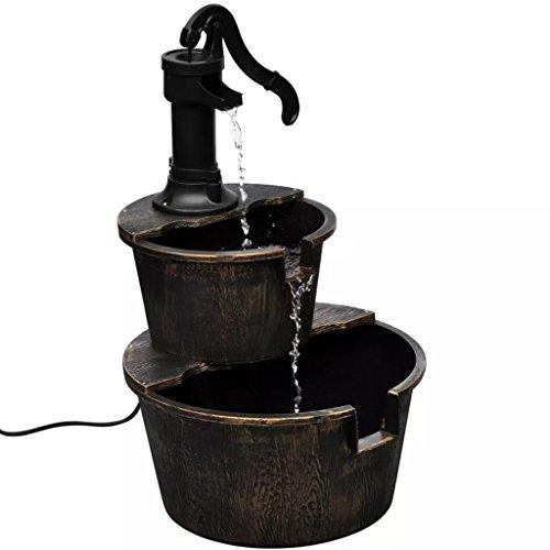 VidaXL cascadefontein in handwaterpomp-design waterspel fontein + pomp