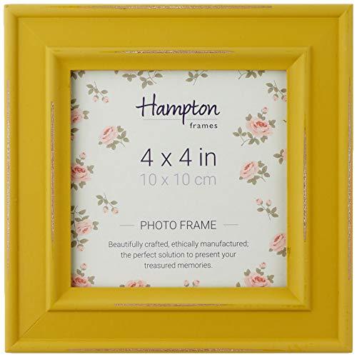 Hampton Frames Paloma - Marco de Fotos Cuadrado, Madera, Amarillo, 4x4 (10x10cm)