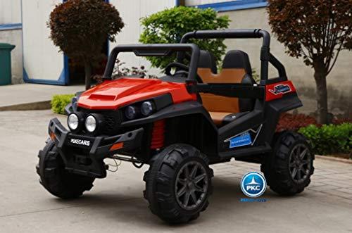 PEKECARS Todoterreno Buggy 12V 2.4G Powerful Rojo Pintado