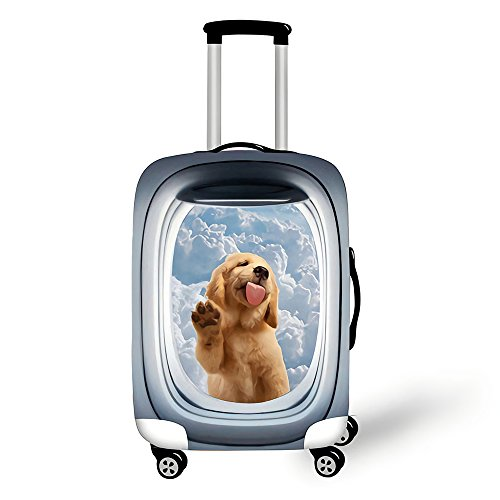 Copri valigia, Custodia protettiva per bagagli, Coperchio di protezione antipolvere con cerniera antipolvere elastico elasticizzato Animale nel modello di finestra