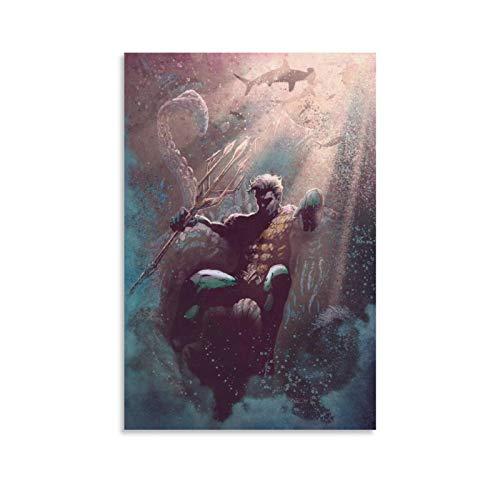 RTYHJ Aquaman Poster, dekoratives Gemälde, Leinwand, Wandkunst, Wohnzimmer, Poster, Schlafzimmer, Malerei, 20 x 30 cm