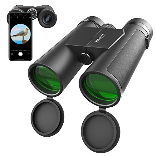 Usogood 10X42 Powerful Binoculars for Adults with Clear Weak-Light Vision - Lightweight Hunting Binoculars for Bird Watching Hiking Travel - Large Eyepiece 16.5mm BAK4 Prism Lens
