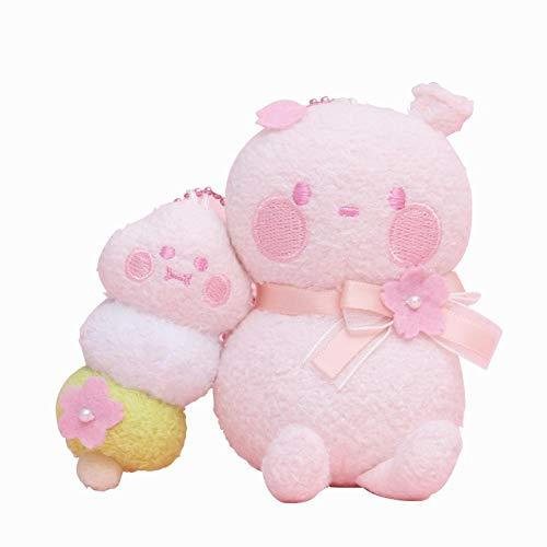 wwwl Plüschtiere BOBO und Coco Ballon Kirschblüte Plüsch Kawaii Geschenk Kind Spielzeug Figur Kuscheltier 1PC