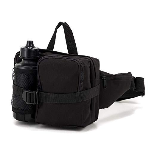 Commando Industries Heuptas met drinkfles riemtas zwart BW camouflage outdoor Pack