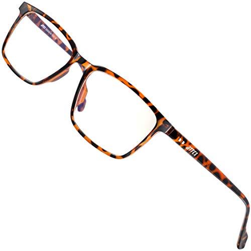 ATTCL Gafas con Filtro de luz Azul bloqueo de luz azul, Gafas con Filtro - Anti Luz Azul para Ordenador, Anti-reflejantes para Hombre y Mujer BL5577 Leopard