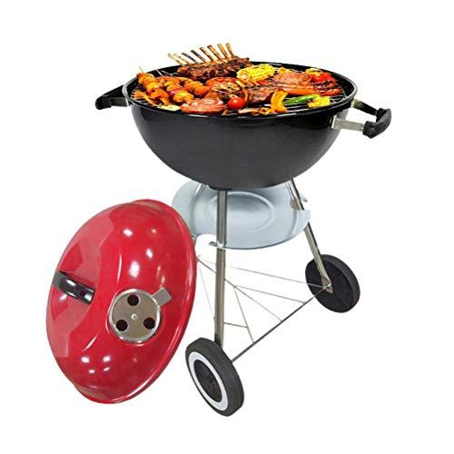 spier Barbacoa portátil de 59 x 43,5 cm de carbón, parrilla ligera para cocinar al aire libre, camping, senderismo, fiesta familiar
