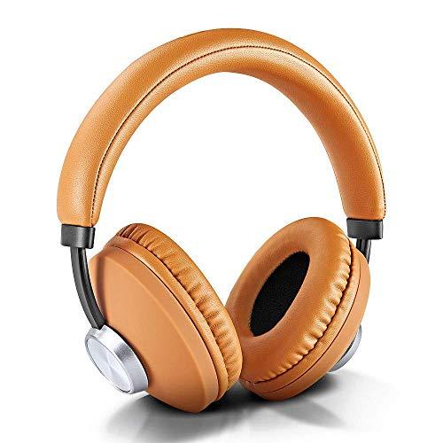 STOGA Bluethooth kopfhörer Over Ear, Kabellose Bluetooth Kopfhörer mit Mikrofon Stereobass kabellos kopfhörer für Sport(braun)