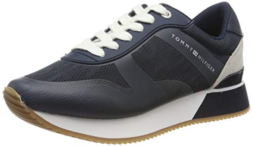 Tommy Hilfiger Tommy Jacquard City Sneaker, Zapatillas Mujer, Azul (Midnight 403), 40 Eu