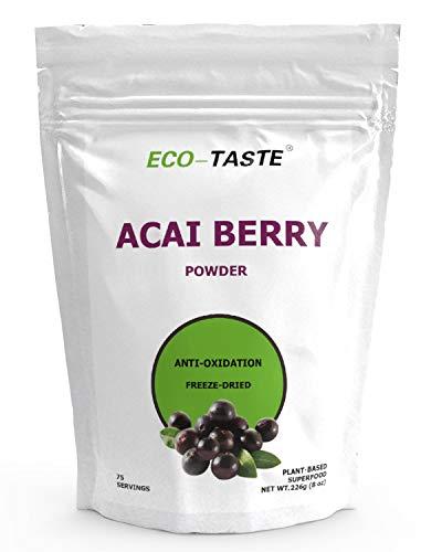 Organic Acai Berry Powder Freeze-Dried 8 oz, Natural Antioxidant Superfood