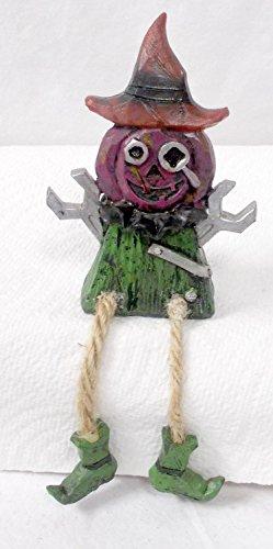 Gordmans Toolman Jack O Lantern Pumpkin Shelf Sitter Halloween Decor 5' NWT
