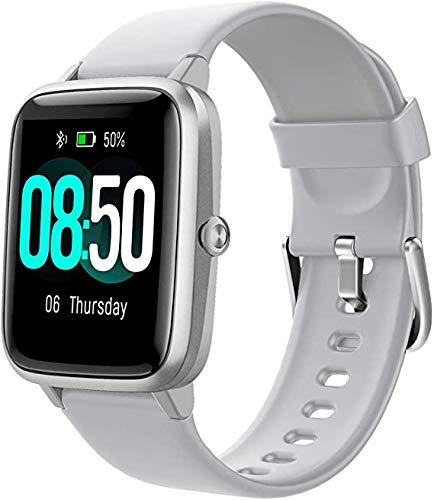 ZBHWYD Reloj inteligente, monitor de actividad física, monitor de sueño, monitor de ritmo cardíaco IP68, resistente al agua, teléfono iPhone Android compatible con reloj inteligente