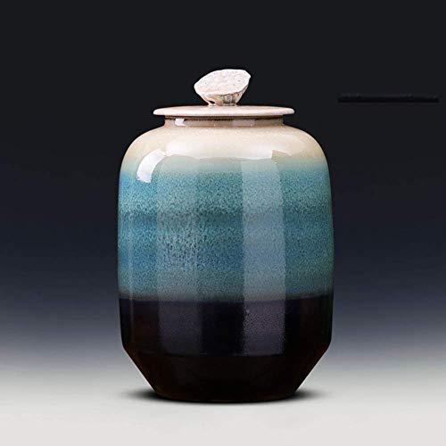 Chinesische Windvase Keramik Kunstvase Dekorative Vasen für Zuhause, um rustikale Wohnkultur zu dekorieren Ideale Dekoration für Haushalt Büro Party Medium