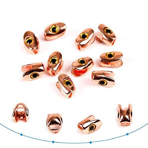 MAXIMUMCATCH Fliegenfischen Bindenmaterial Skulpin Kopf Fliegenbinden Perlen dunkelgrün/Kupfer Skulpinköpfe (Kupfer, Skul-10 Stück)